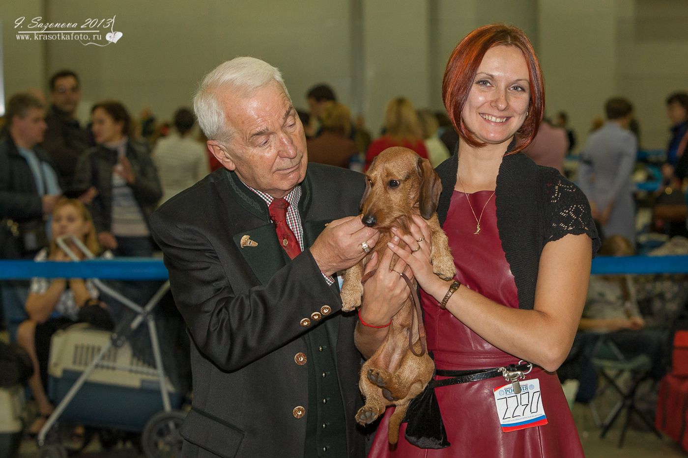 Dachs Design World for Us and Irina Hapaeva, his handler.